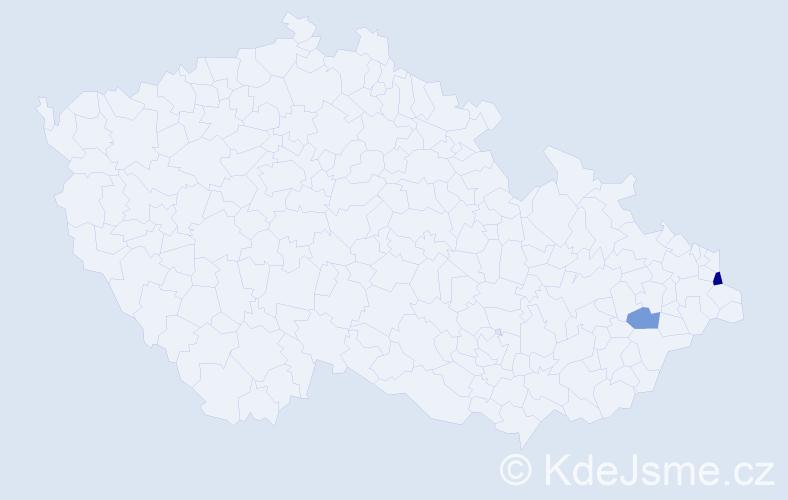 Příjmení: 'Cerniňák', počet výskytů 3 v celé ČR