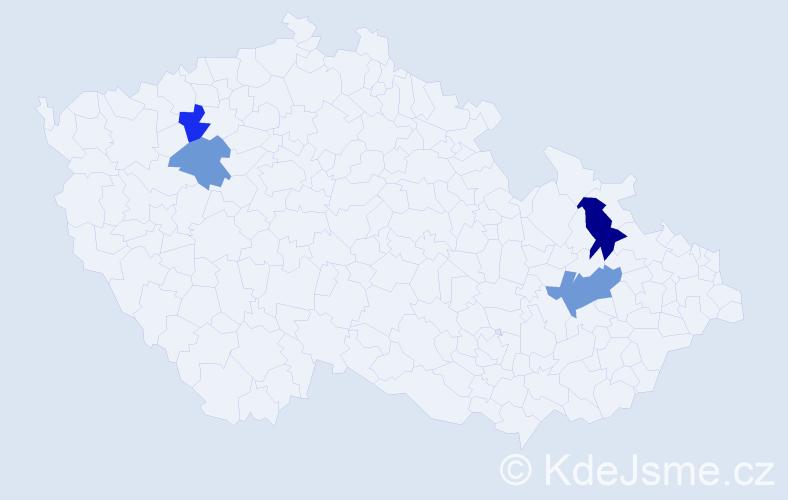 Příjmení: 'Ďurika', počet výskytů 6 v celé ČR