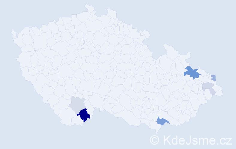 Příjmení: 'Gališ', počet výskytů 15 v celé ČR