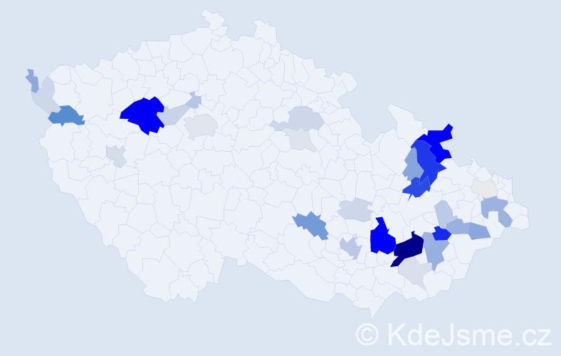 Příjmení: 'Kadlík', počet výskytů 111 v celé ČR