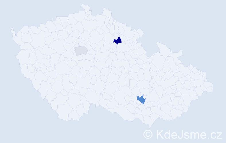 Příjmení: 'Chmatil', počet výskytů 17 v celé ČR