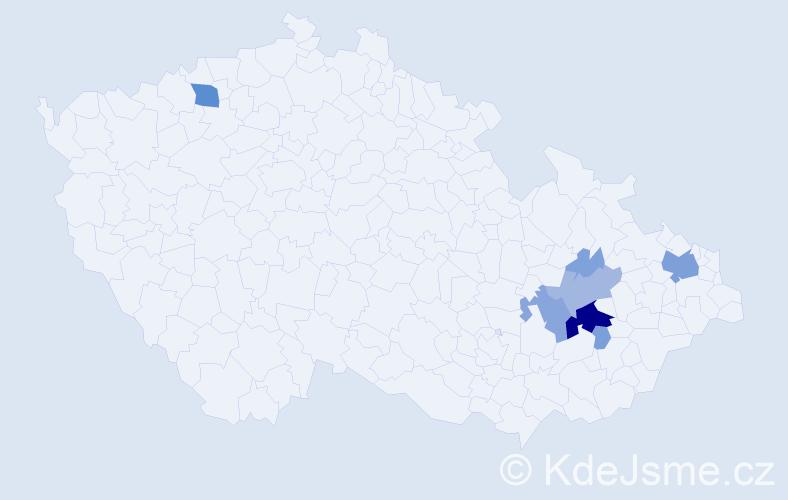Příjmení: 'Ištanek', počet výskytů 34 v celé ČR
