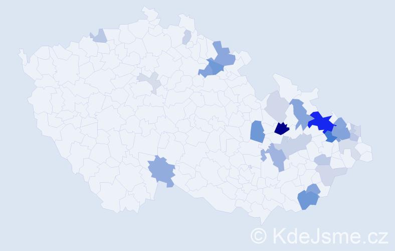Příjmení: 'Kreisel', počet výskytů 67 v celé ČR
