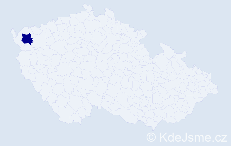 Příjmení: 'Černánský', počet výskytů 4 v celé ČR