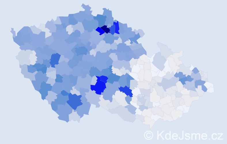 Příjmení: 'Brožová', počet výskytů 4314 v celé ČR