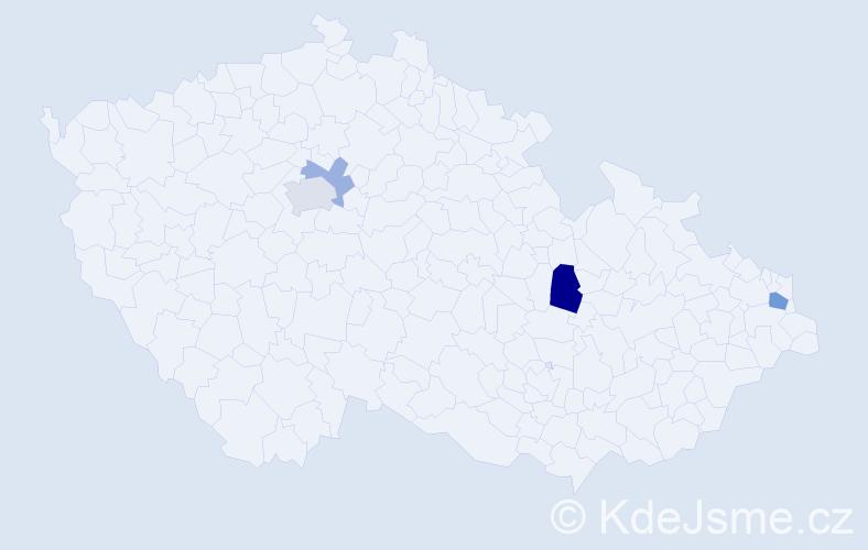 Příjmení: 'Herboczková', počet výskytů 7 v celé ČR