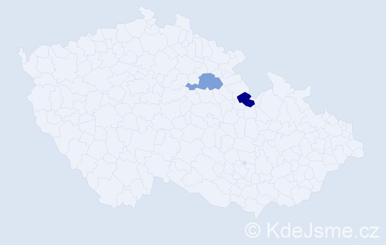 Příjmení: 'Dorčincová', počet výskytů 4 v celé ČR