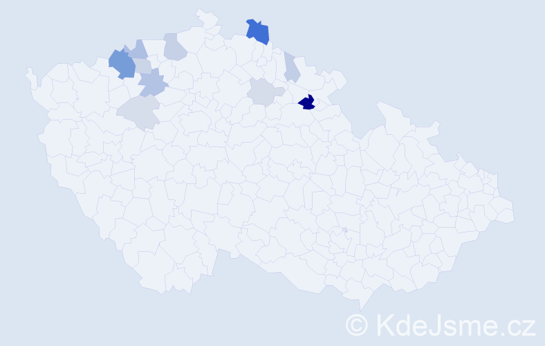 Příjmení: 'Huňák', počet výskytů 32 v celé ČR