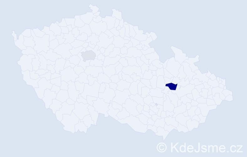 Příjmení: 'Forétek', počet výskytů 2 v celé ČR