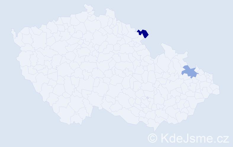 Příjmení: 'Grusmann', počet výskytů 2 v celé ČR