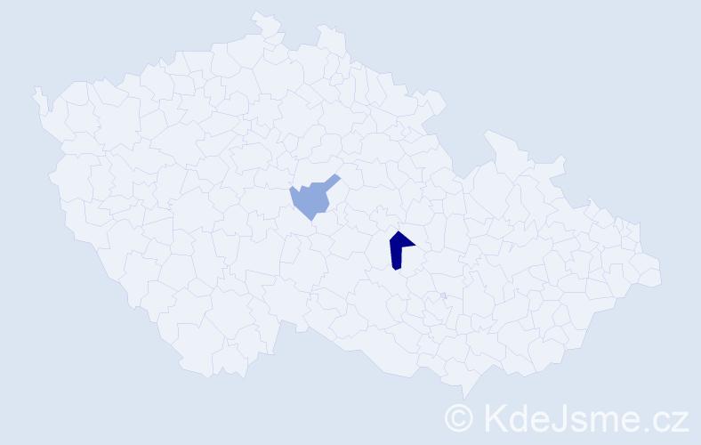 Příjmení: 'Űberlackerová', počet výskytů 3 v celé ČR