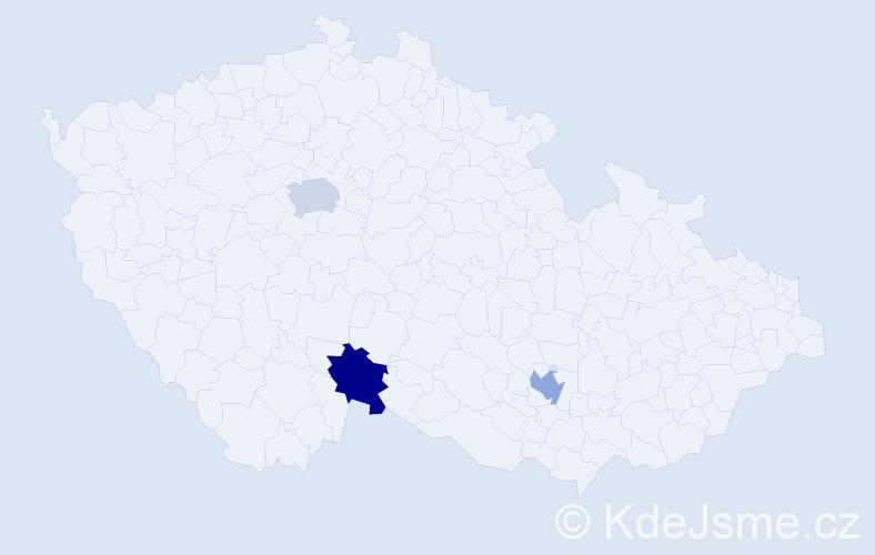 Příjmení: 'Čerkašin', počet výskytů 3 v celé ČR