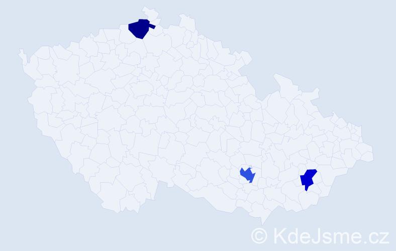 Příjmení: 'Emery', počet výskytů 4 v celé ČR