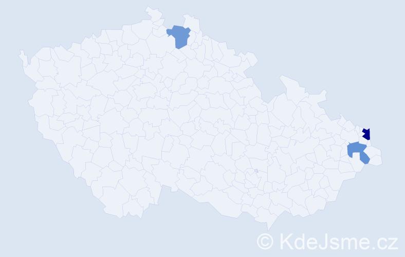 Příjmení: 'Fabik', počet výskytů 8 v celé ČR