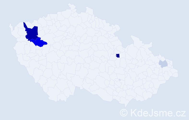 Příjmení: 'Čokotová', počet výskytů 7 v celé ČR