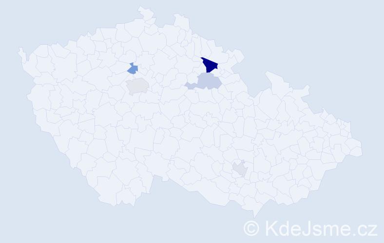 Příjmení: 'Dykovská', počet výskytů 8 v celé ČR