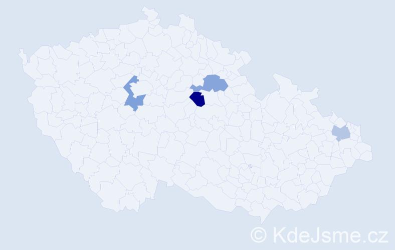 Příjmení: 'Kőcherová', počet výskytů 4 v celé ČR