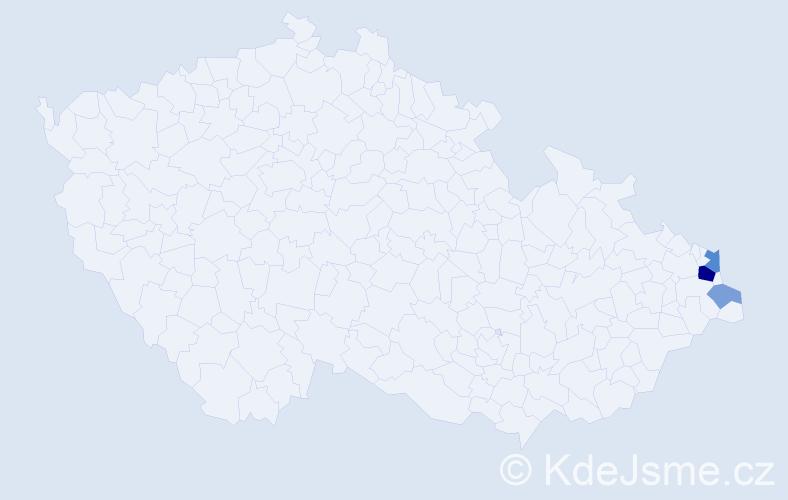Příjmení: 'Herdzina', počet výskytů 8 v celé ČR
