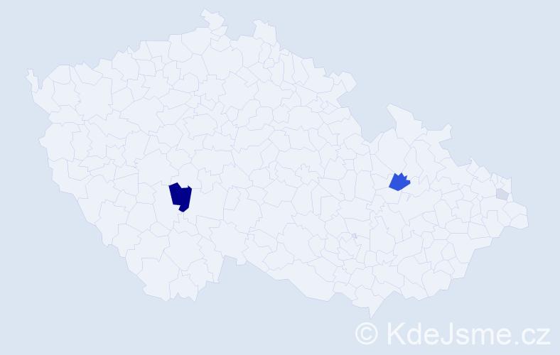 Příjmení: 'Csernáková', počet výskytů 8 v celé ČR
