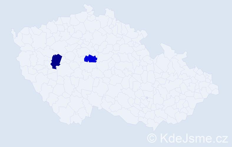 Příjmení: 'Feifr', počet výskytů 2 v celé ČR