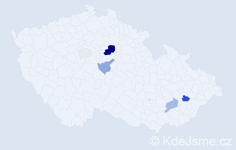 Příjmení: 'Erker', počet výskytů 7 v celé ČR