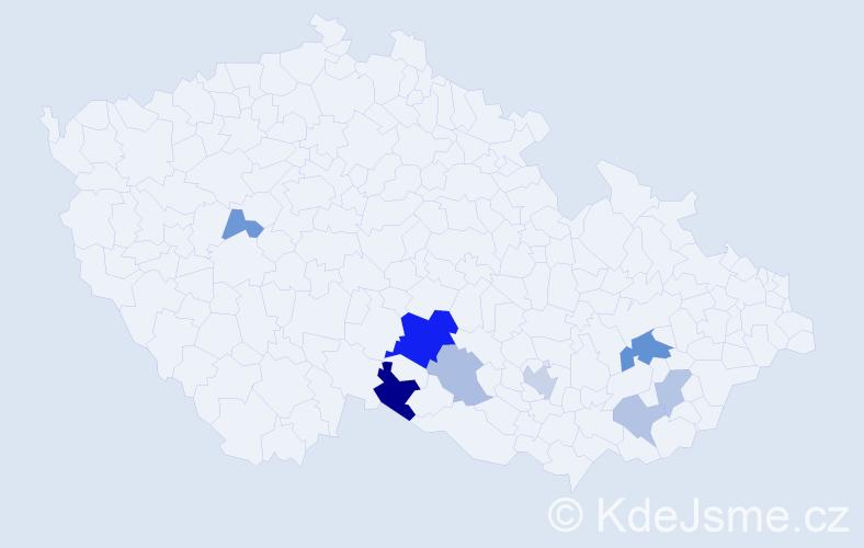 Příjmení: 'Drštička', počet výskytů 17 v celé ČR