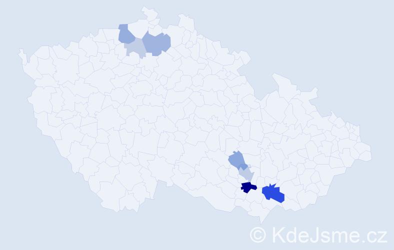 Příjmení: 'Kolstrunk', počet výskytů 23 v celé ČR