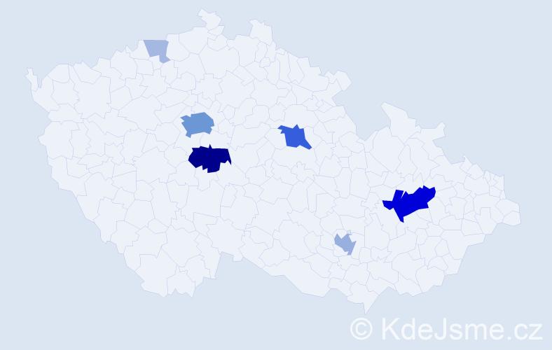 Příjmení: 'Epstein', počet výskytů 36 v celé ČR