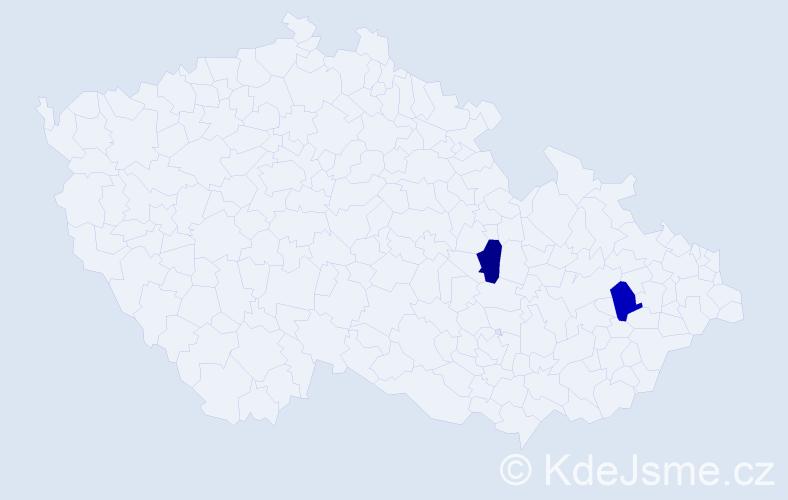 Příjmení: 'Čurgalová', počet výskytů 2 v celé ČR