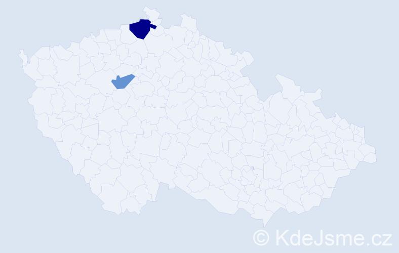 Příjmení: 'Damaschin', počet výskytů 3 v celé ČR