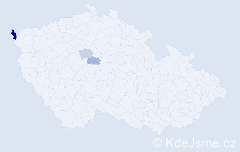 Příjmení: 'Fedoš', počet výskytů 9 v celé ČR