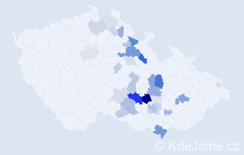 Příjmení: 'Fikrová', počet výskytů 128 v celé ČR
