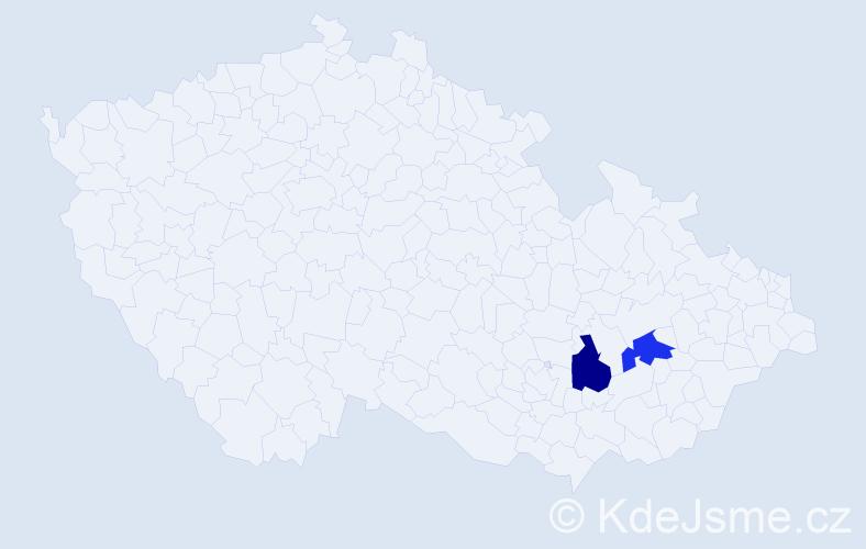 Příjmení: 'Ivoňáková', počet výskytů 2 v celé ČR