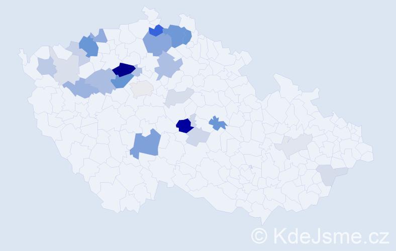 Příjmení: 'Arlt', počet výskytů 80 v celé ČR