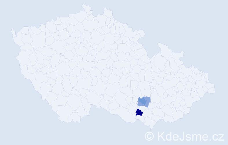 Příjmení: 'Hungr', počet výskytů 8 v celé ČR
