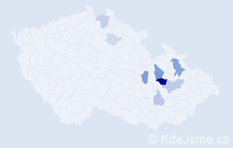 Příjmení: 'Elgnerová', počet výskytů 29 v celé ČR