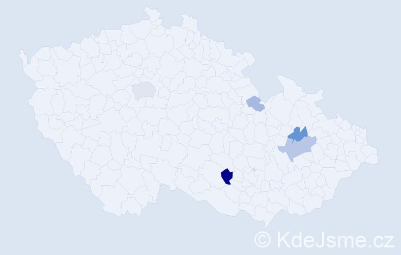 Příjmení: 'Introvič', počet výskytů 14 v celé ČR