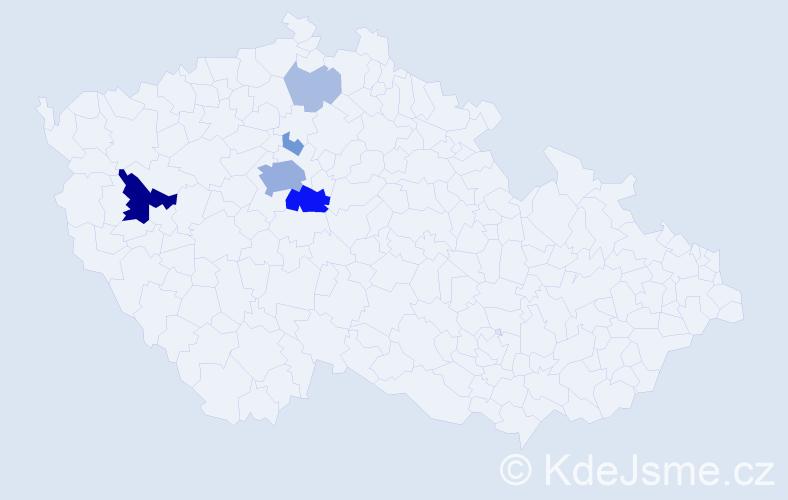 Příjmení: 'Caithamel', počet výskytů 23 v celé ČR