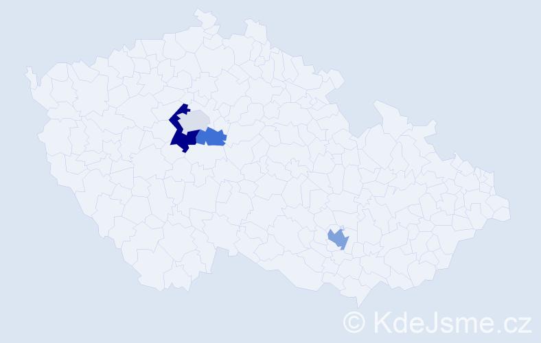 Příjmení: 'Chrástný', počet výskytů 7 v celé ČR