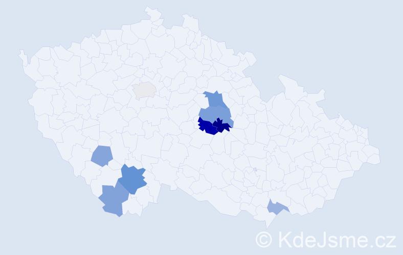 Příjmení: 'Haanová', počet výskytů 17 v celé ČR