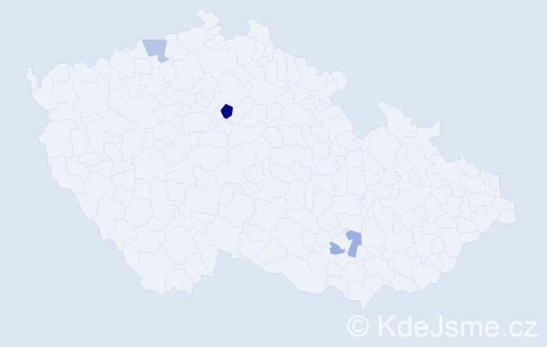 Příjmení: 'Kukuš', počet výskytů 4 v celé ČR