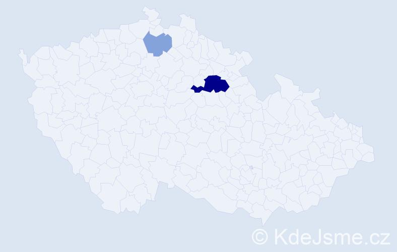 Příjmení: 'Grősserová', počet výskytů 7 v celé ČR
