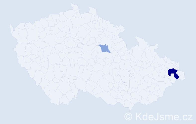 Příjmení: 'Incédi', počet výskytů 10 v celé ČR
