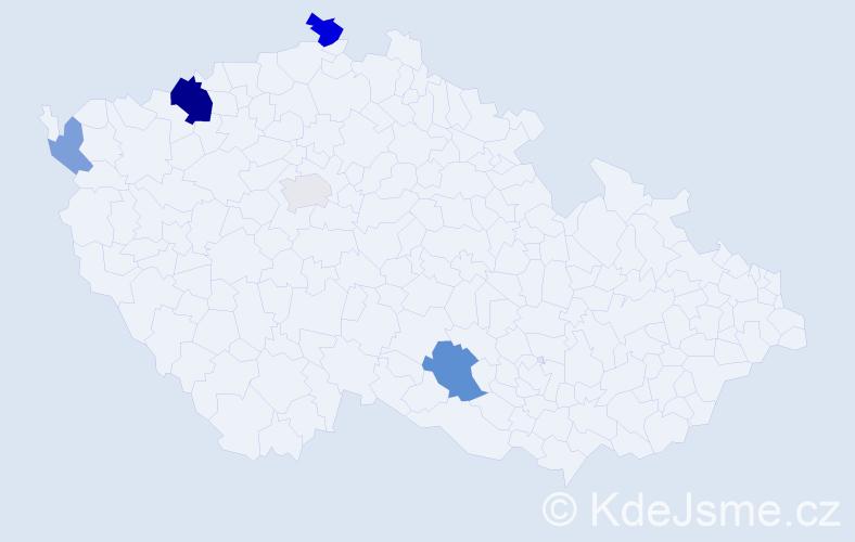 Příjmení: 'Jaburek', počet výskytů 11 v celé ČR