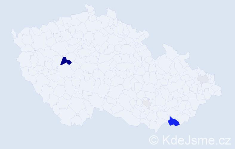 Příjmení: 'Ilášová', počet výskytů 12 v celé ČR