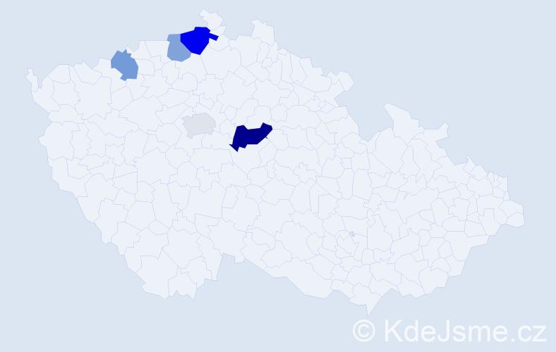 Příjmení: 'Gallertová', počet výskytů 17 v celé ČR