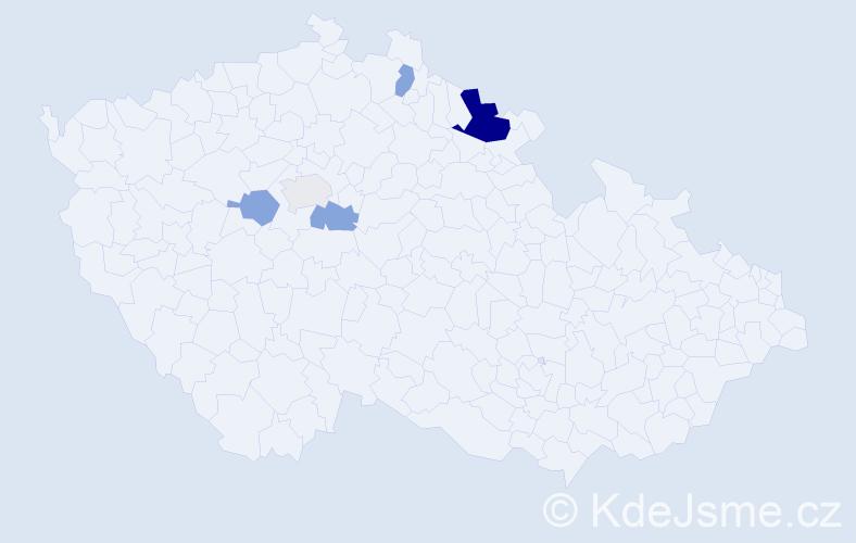 Příjmení: 'Garček', počet výskytů 9 v celé ČR