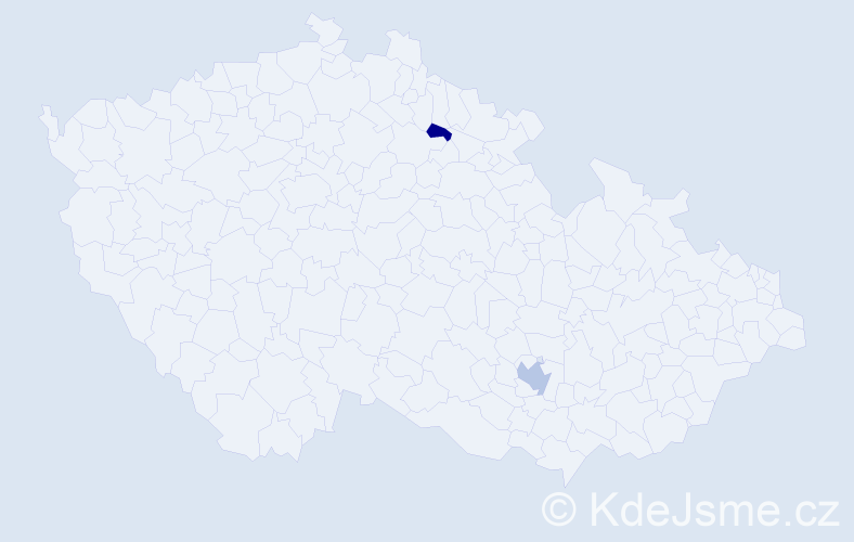 Příjmení: 'Elnekave', počet výskytů 3 v celé ČR