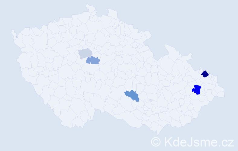 Příjmení: 'Hritzová', počet výskytů 12 v celé ČR