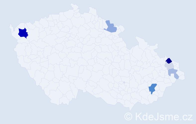 Příjmení: 'Flam', počet výskytů 14 v celé ČR